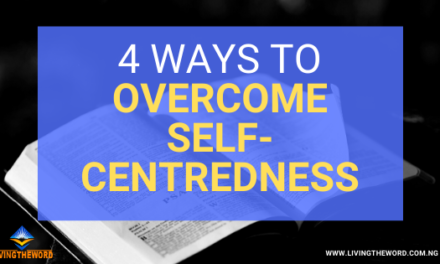 How to overcome self-centeredness